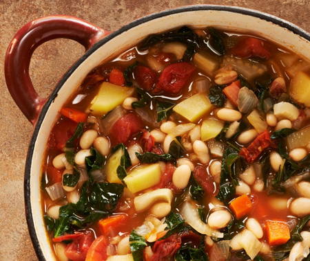 Portuguese Kale and Potato Soup with Chorizo Sausage
