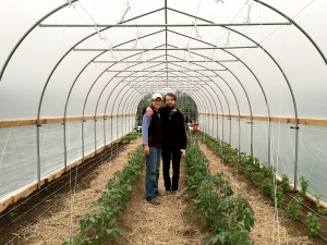 Farmers Rose And Nic In Tunnel